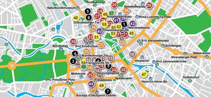 Restaurantes Mitte Map