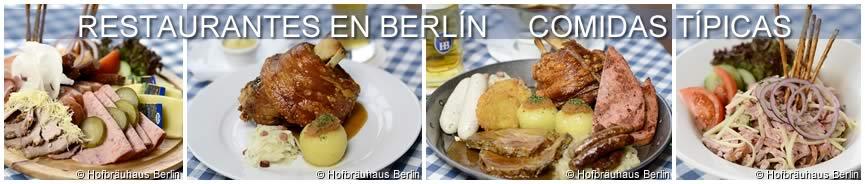 Restaurantes en Berlín, comidas típicas